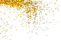Golden glitter background on white Royalty Free Stock Photography