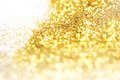 Golden glitter close up of Royalty Free Stock Photos