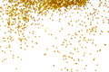 Golden glitter frame background on white Stock Photography