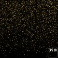 Golden glitter sparkle bubbles champagne particles stars on black background,happy new year holiday concept Royalty Free Stock Photo