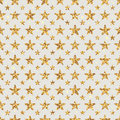 Golden Glitter star flower symmetry seamless pattern