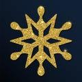 Golden glitter sublime snowflake luxurious christmas design element vector illustration Stock Photo