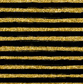 Golden glitter texture line on black background seamless pattern Royalty Free Stock Photo