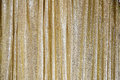 The golden glittering curtain Royalty Free Stock Photo