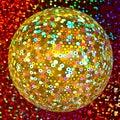 Golden Glittering Disco Ball Royalty Free Stock Photo