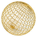 Golden globe frame ball Royalty Free Stock Photos