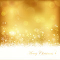 Golden glowing Christmas background Stock Photography