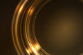 Golden glowing frame of round ring segments Royalty Free Stock Photos