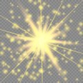 Golden glowing light effect