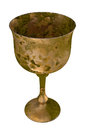 Antique goblet Holy grail rust cup
