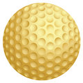 Golden golf ball Royalty Free Stock Images