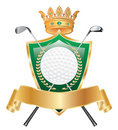 Golden golf crown Stock Image
