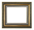 Golden and gray picture frame