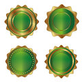 Golden-green luxury labels