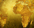 Golden Grungy Map Royalty Free Stock Photo