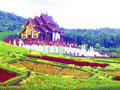 Golden Hall of Chiang Mai Stock Image