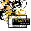 Golden hand-drawn design elements. Vector templates for posters, flyers, brand, brochure. Golden, black, white Royalty Free Stock Photo