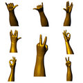 Golden hands 04 Royalty Free Stock Photo