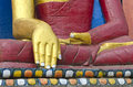Golden hands of Buddha  statue in Kathmandu, Nepal Royalty Free Stock Photo