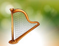 A golden harp illustration of Stock Image
