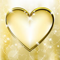 Golden heart Royalty Free Stock Photo