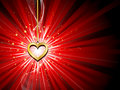 Golden heart background Royalty Free Stock Photo