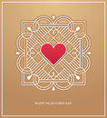 Golden heart frame for love design concept Royalty Free Stock Photo