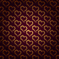 Golden hearts pattern seamless of gold make a various size background Royalty Free Stock Images