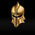 Golden helmet gold ancient warriors exhibition Royalty Free Stock Photo