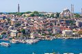 Golden horn in istanbul panoramic view of from galata tower turkey Stock Image