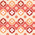 Golden ikat geometric seamless pattern background vector with hand drawn elements Stock Image