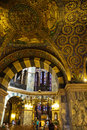 Golden interior of the aachen cathedral in germany which is listed under unesco world heritage sites Stock Photo
