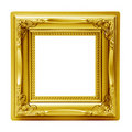 Golden isolated picture frame Stock Image