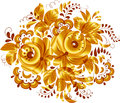 Golden isolated vector floral element for your design Royalty Free Stock Images