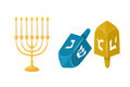 Golden jew menorah with candles hebrew religion tradition decoration flame and candelabrum hanukkah orthodox judaism
