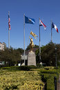 Golden joan of arc new orleans louisiana statue in Stock Images