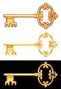 Golden Key. Vector illustration. Royalty Free Stock Photo