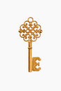A golden key Royalty Free Stock Photo