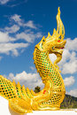 Golden king of Naga Royalty Free Stock Photos
