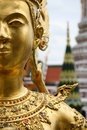Golden kinnari bangkok grand palace thailand Royalty Free Stock Photo