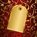 Golden label Royalty Free Stock Photo