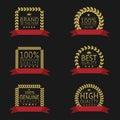 Golden label set Royalty Free Stock Photo