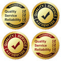 Golden Labels Stock Photo