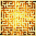 Golden labyrinth with flame Royalty Free Stock Photography