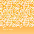 Golden lace roses horizontal seamless pattern vector background with hand drawn elements Stock Image