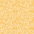 Golden lace roses seamless pattern background vector with hand drawn elements Royalty Free Stock Photo