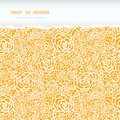 Golden lace roses torn horizontal seamless pattern vector background with hand drawn elements Royalty Free Stock Image