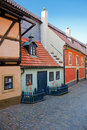 Golden Lane in Prague Stock Photography
