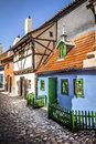 Golden lane prague castle czech republic Royalty Free Stock Photo