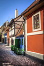 Golden lane prague castle czech republic Royalty Free Stock Image